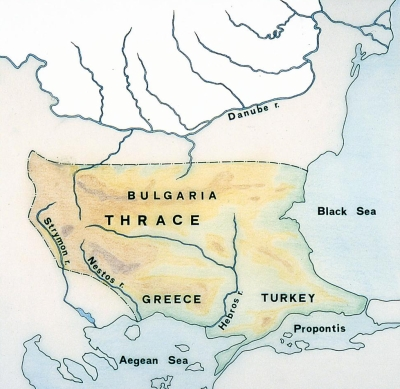 map of macedonia and surrounding countries. of ancient macedonia.